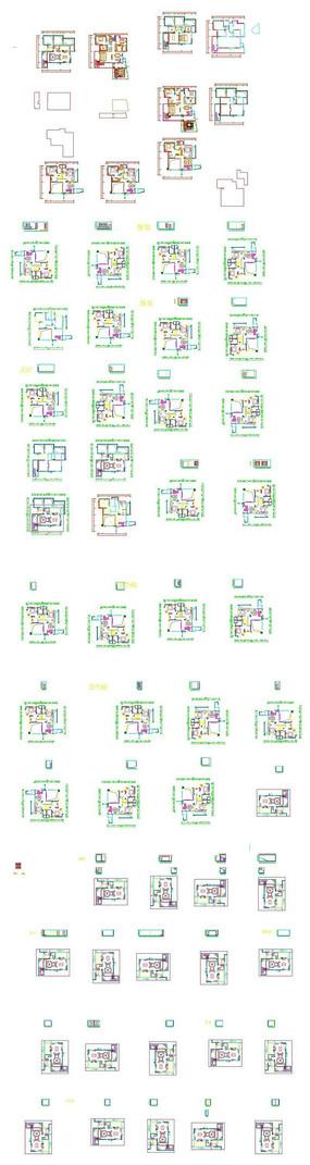 家居装饰设计平面图纸