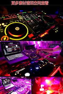 酒吧迪吧舞会DJ操作控台高清实拍视频素材