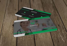 商务医疗个人名片模板设计