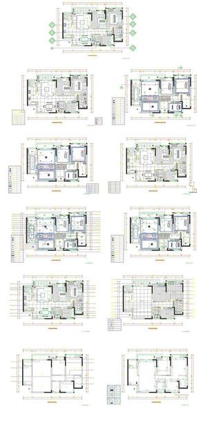 室内装饰平面施工图