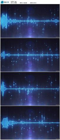 音频波形随音乐波动led高清背景视频