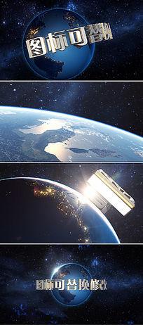震撼大气地球标志AE模板 aep