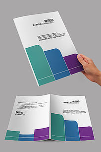 彩色精致简洁封面