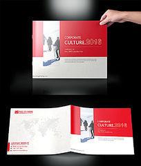 红色大气企业画册封面