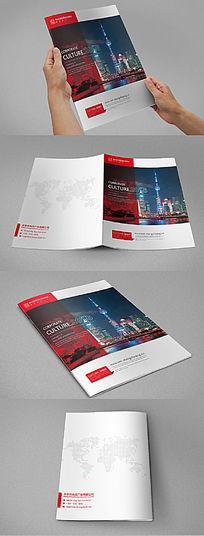 红色大气企业通用画册封面