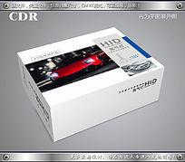 红色跑车车头大灯包装设计彩盒
