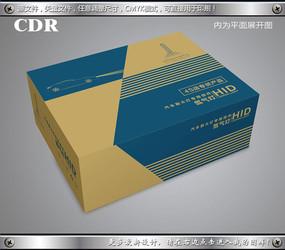 简约牛皮纸车灯飞机盒设计 CDR