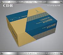 简约牛皮纸车灯飞机盒设计