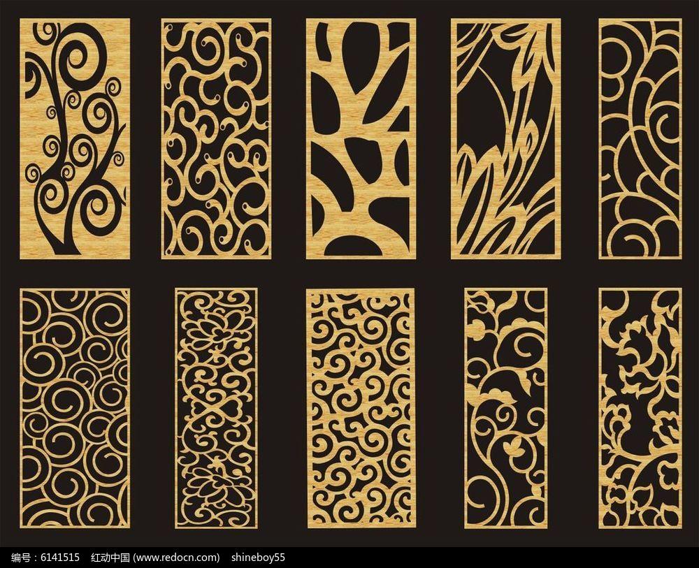 欧式镂空雕花cdr素材下载_雕刻图案设计图片