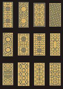 中式窗格雕花