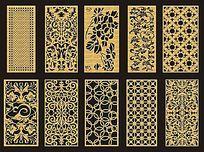 中式古典窗花木雕花纹图案图片图片