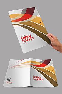 彩色弧线企业封面