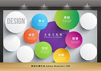简约圆形企业文化背景墙设计