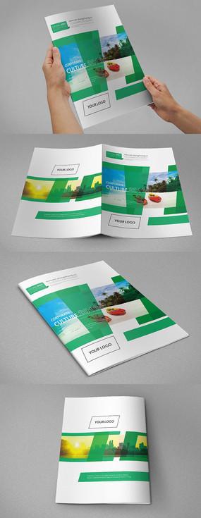 绿色国际时尚旅游画册封面