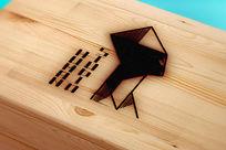 提案贴图木头激光雕刻标志展示logo效果图