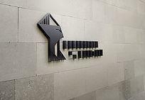 提案贴图墙面立体标志展示logo效果图