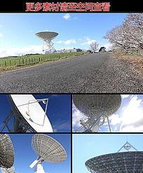 卫星信号雷达接收天线高清视频素材