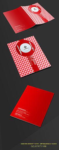 红色西餐封面
