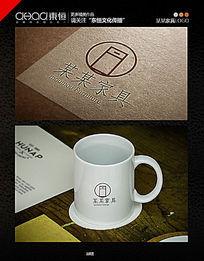 简简洁大方家具公司logo AI