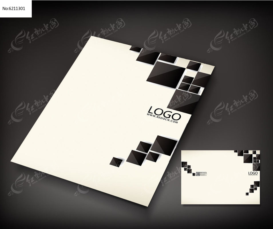 简洁方块艺术封面psd素材下载图片