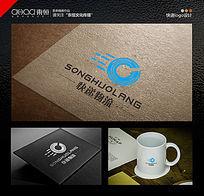 简洁清新的物流公司logo设计