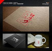 健康讲堂logo设计中国风印章