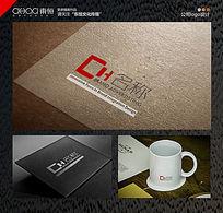 简约线条公司logo PSD
