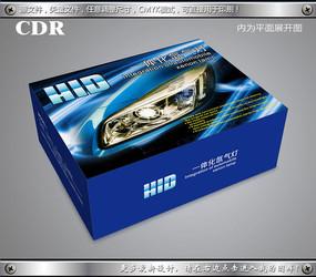 蓝色hid车灯包装 CDR