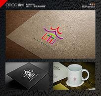 亭子旅游时尚logo