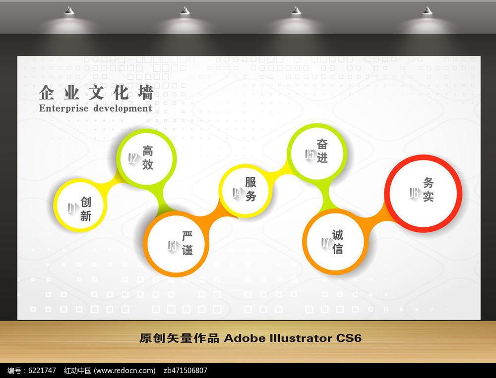 创意企业文化墙宣传栏背景设计图片