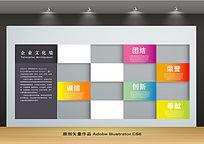 简约个性企业文化背景墙设计