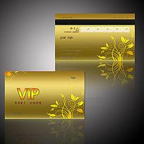 金色花纹华丽VIP卡