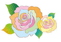 牡丹大花矢量图