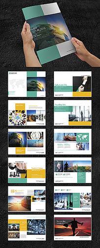 青色商务科技画册版式设计