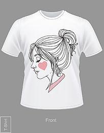 可爱人像T恤