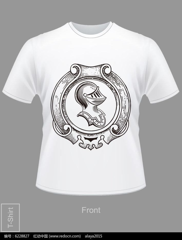 欧式花纹T恤图片