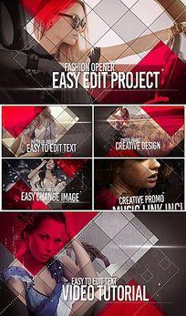时尚感模特写真人物信息娱乐片头AE模板
