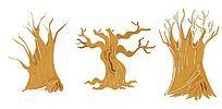 大气矢量大树素材