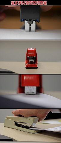 钉书机装订资料高清实拍视频素材