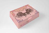 粉色神秘复古风文胸包装设计