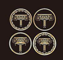 金色欧式家居公司logo