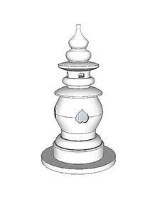 三潭石塔雕塑小品