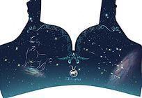 星空星座文胸设计