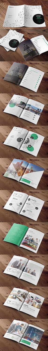 个性线条圆圈企业画册