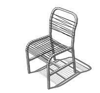 金属网绳座椅su模型 skp