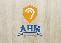橘色变形大耳朵logo