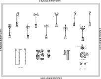 十四款欧式景观灯柱CAD模型 dwg