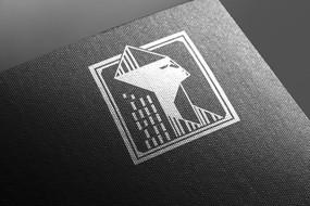 提案贴图烫银色标志展示logo效果图