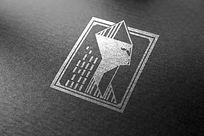 提案贴图烫银商务标志展示logo效果图