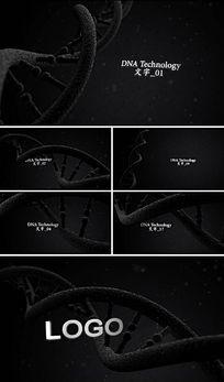 震撼DNA科技影视片头电影宣传片头AE模板